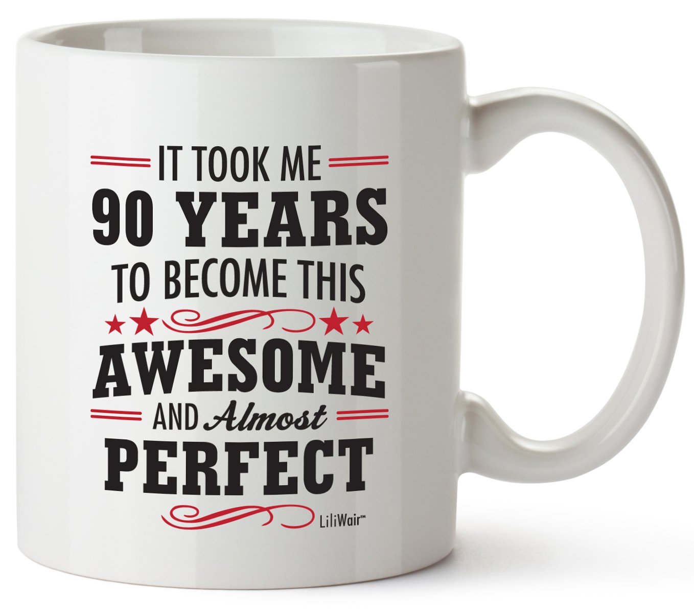 90th Birthday Gifts For Women Ninety Years Old Men Gift Mugs Happy Funny 90 Mens Womens Womans Wifes Female Man Best Friend 1929 Mug Male Unique Ideas 29