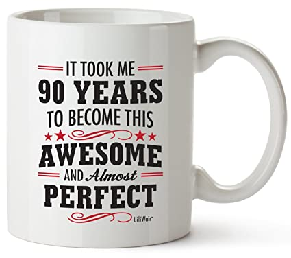 90th Birthday Gifts For Women Ninety Years Old Men Gift Mugs Happy Funny 90 Mens Womens  sc 1 st  Amazon.com : 90th birthday gift ideas female - princetonregatta.org