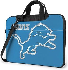 Azhangljqn Laptop Bag Detroit Lions Laptop Shoulder Bag, One Shoulder Shockproof Laptop Bag, Handbag, Business Travel Bag