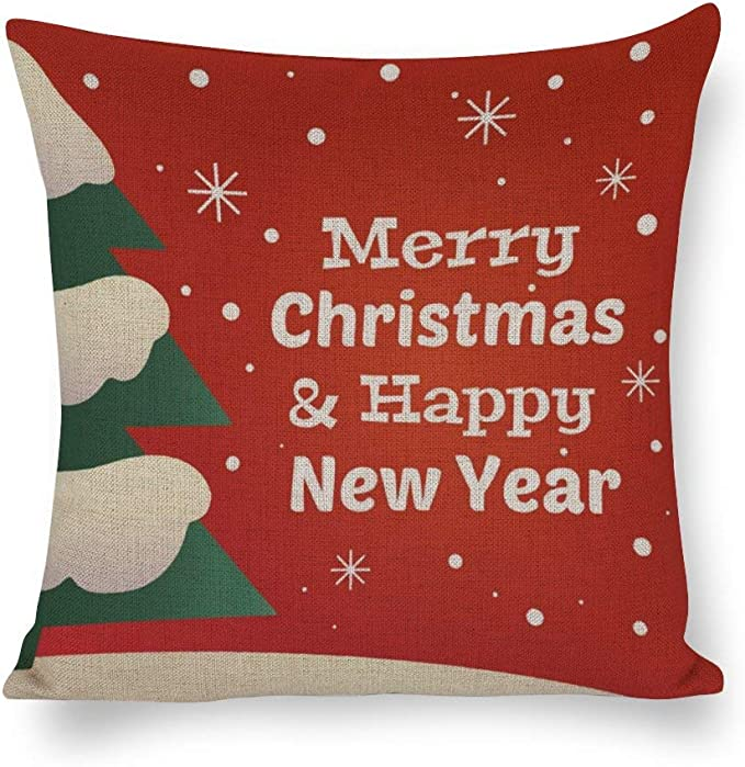 Dkisee Merry Christmas Throw Pillow