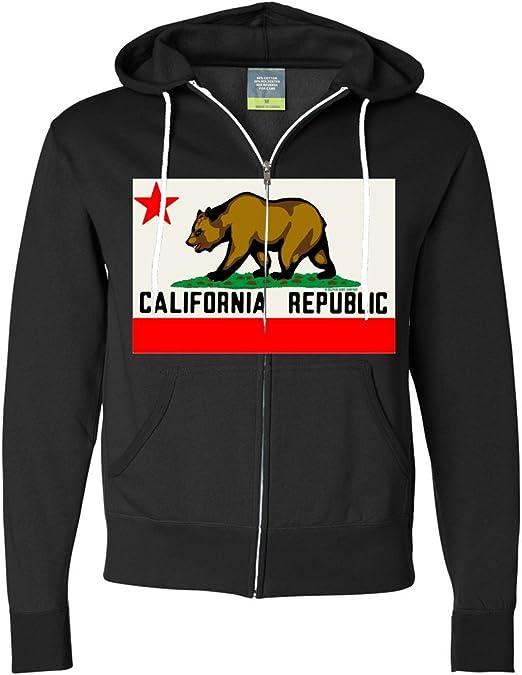California bear hoodie flag sweatshirt gift for men hoody hooded sweat shirt