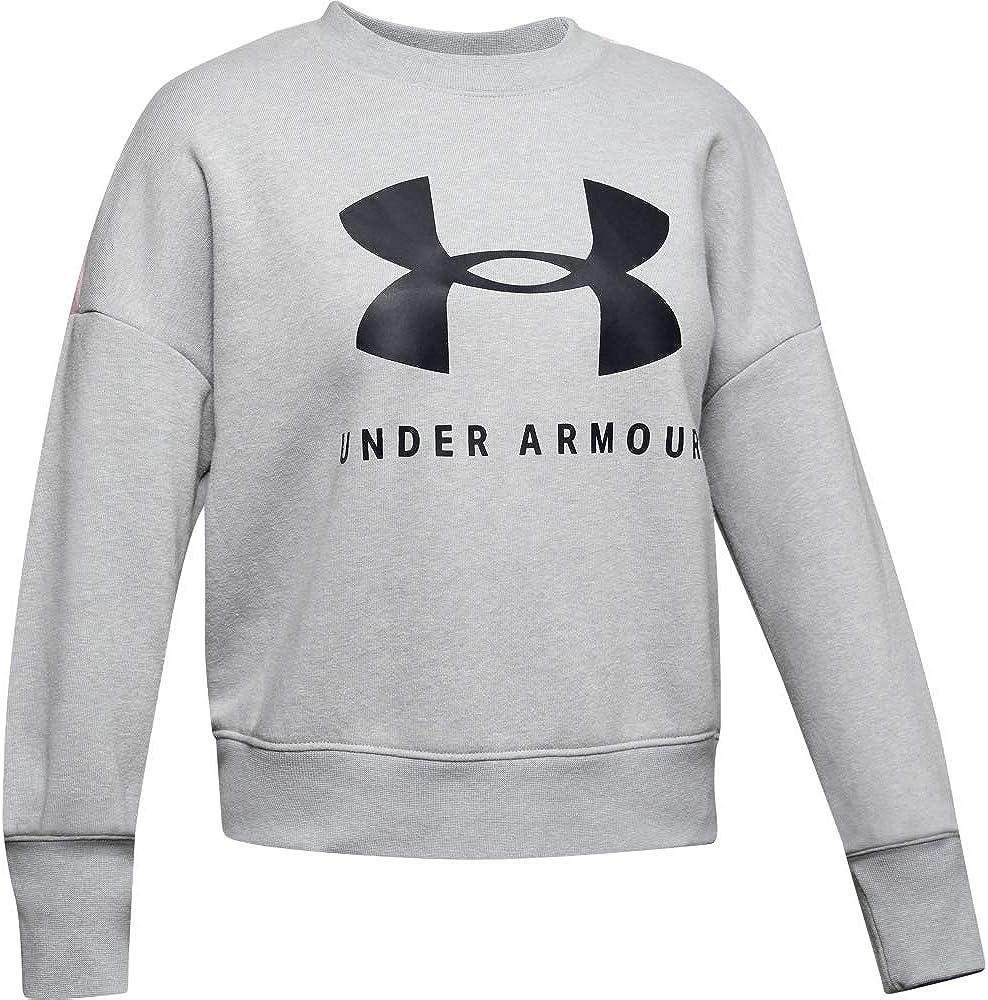 011 Under Armour Sportstyle Fleece Crew //Black Youth Medium Mod Gray Light Heather