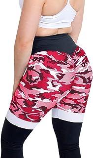 FRAUIT Leggings Donna Pantaloni Militari Vita Alta, Leggins Donna Palestra Push Up Pantaloni Sportivi da Corsa per Allenamento