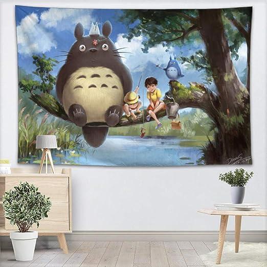 ZKPGUA Tapices Totoro Anime Tapiz Colgante De Pared ...