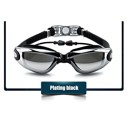 Mirror Bkack UV RX Lens Plating Anti-Fog  Prescription Swimming Goggles Eyewear