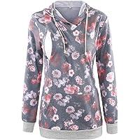 Ecavus Womens Fleece Maternity & Nursing Sweatshirt Hoodie Zip up Pullover Breastfeeding Top with Pocket