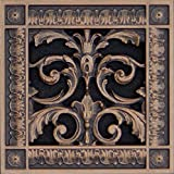 """Decorative Vent Cover, Grille, Return Register, Made of Urethane Resin, in French Style fits Over a 6""""x 6"""" Duct Opening. Total Size, 8"""" x 8"""", for Walls & Ceilings only(not Floors) (Rubbed Bronze)"""