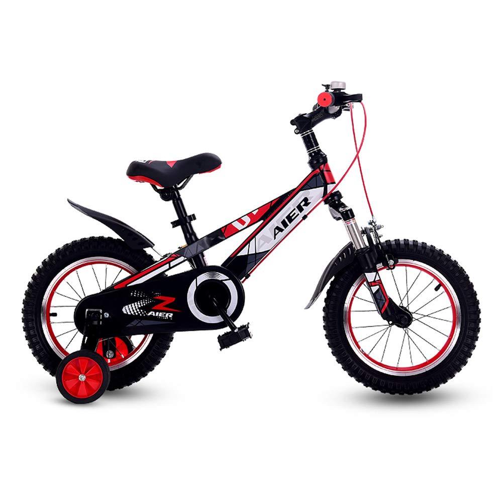 The Children's Bicycle 2-3-4-6-8 歳の小さな男の子の女の子 12/14/16インチ ベビーキャリッジ 自転車ペダル フロントフォークダブル衝撃吸収アルミ合金リング 2.4インチ厚タイヤ 12 inches レッド 1035 B07K2QC67C 12 inches|レッド レッド 12 inches
