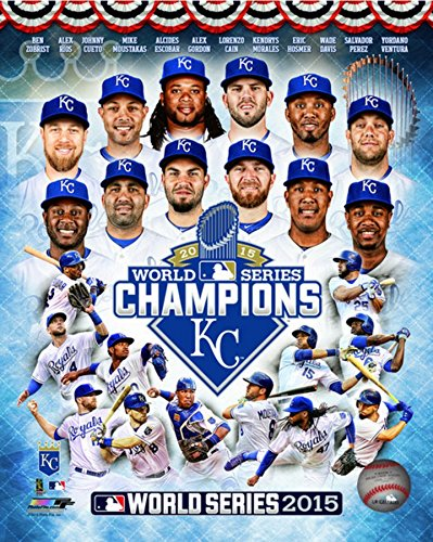 MLB Kansas City Royals 2015 World Series Champions Team Composite Photo (Size: 8
