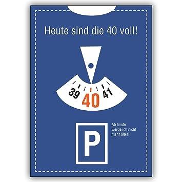 Cartes d invitation avec Quantité   Invitation amusante réduction 40ème au  look parkuhr   Aujourd b404bd9f3c8