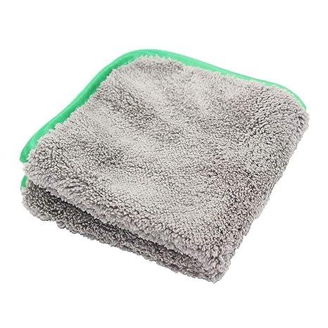 iShiné Bayeta de Limpieza, Doble Capa de Microfibra y Felpa Toallas de Absorbente Coche