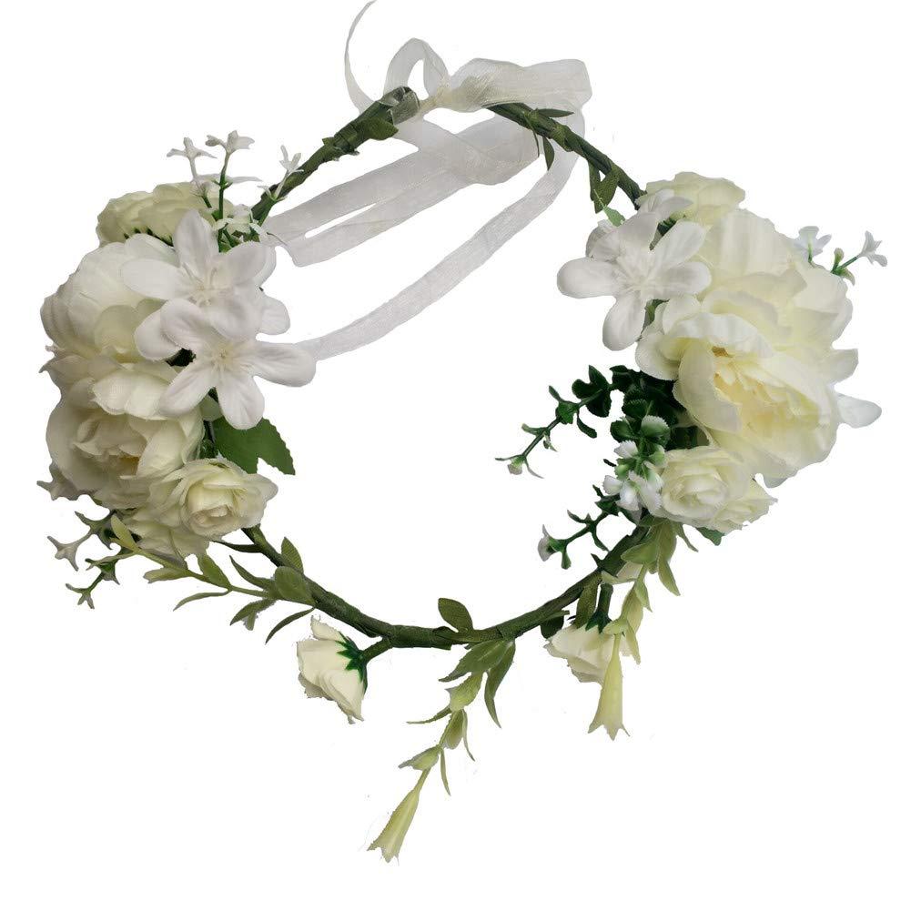 WeddingBobDIY Women Hairband Bride Hair Weath Girl Artificial Wedding Flowers Accessories Ivory