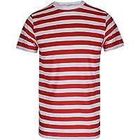 Maglietta con motivo a righe, per adulti e bambini