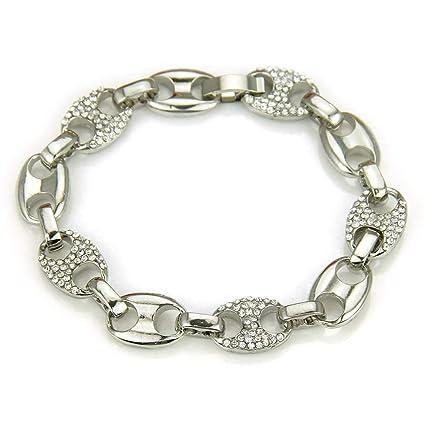 acheter populaire 45237 8a126 Aszhdfihas Bracelet Homme Diamant de la Mode Diagonal Hommes ...