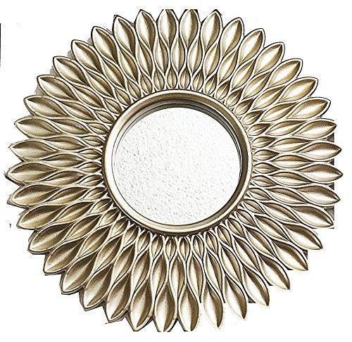 Kole Imports OS255 OS255 Gold Sunburst Circle Wall - Sunburst Frame