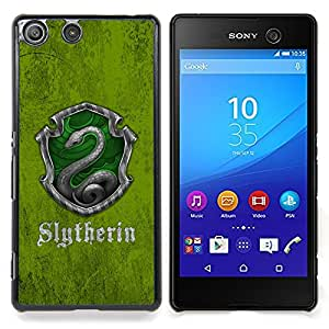 Slytherin Shield Caja protectora de pl??stico duro Dise?¡Àado King Case For Sony Xperia M5