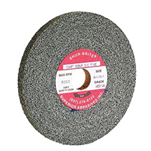 "TTC Convolute Deburring Wheel Silicon Carbide - Diameter: 8"" Width: 1"" ARBOR HOLE: 3"" Grade: Fine DENSITY: Hard"