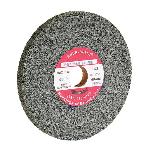 TTC Convolute Deburring Wheel Silicon Carbide - Diameter: 8'' Width: 1'' ARBOR HOLE: 3'' Grade: Fine DENSITY: Hard