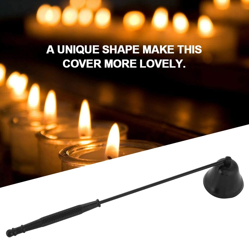 Color : Black Delaman Candle Extinguisher Candle Snuffer Stainless Steel Candle Extinguisher
