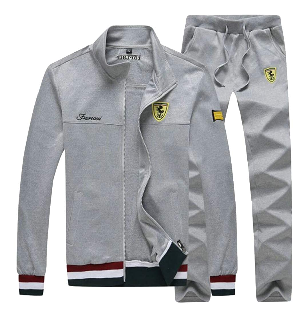 Gery XXLarge maweisong Men's Full Zip Tracksuit Set Casual Jogging Athletic Sweat Suits Oufti
