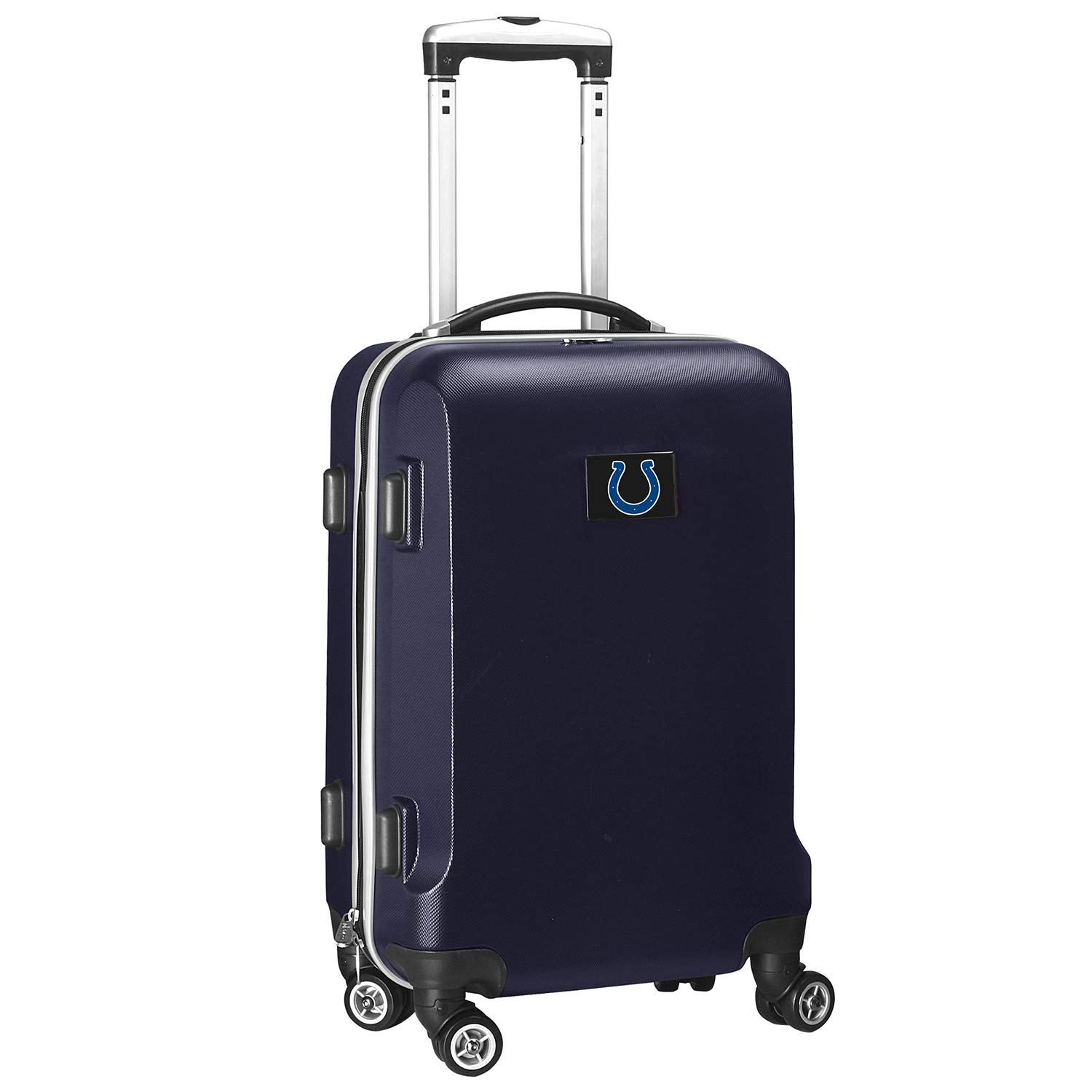 Denco NFL Indianapolis Colts Carry-On Hardcase Luggage Spinner, Navy by Denco (Image #1)