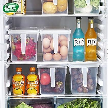 AJ Set 3 Kitchen Food Crisper Food Storage Bins Refrigerator Storage container with Handle AJ6017  sc 1 st  Amazon.com & Amazon.com: AJ Set 3 Kitchen Food Crisper Food Storage Bins ...
