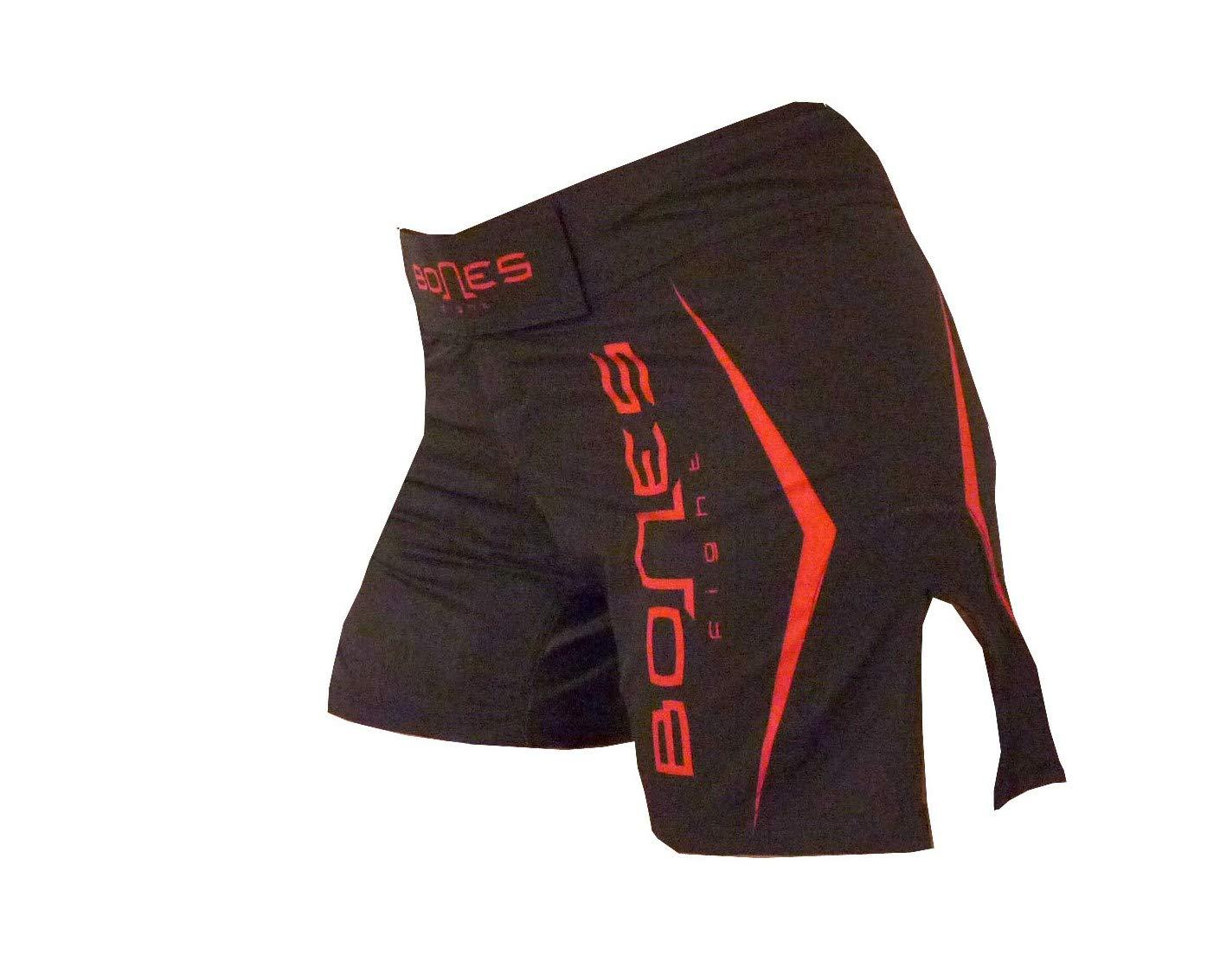 Bones Fight Shorts, Woman´s MMA Short, BJJ, Woman´s Grappling Short, Cross fit, Free Fight Short, Black