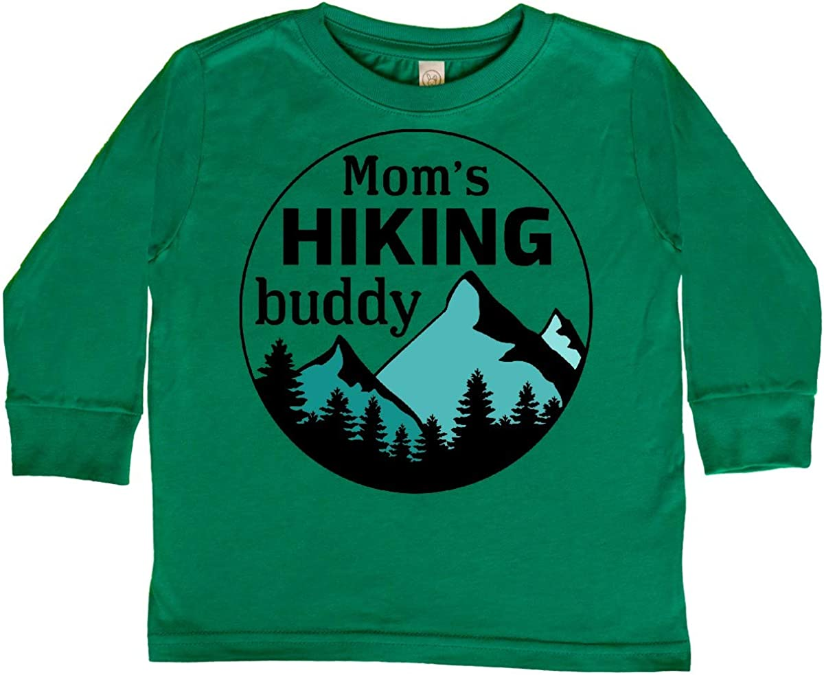 inktastic Moms Hiking Buddy with Mountains and Toddler Long Sleeve T-Shirt
