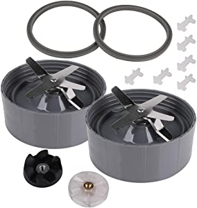 2 Pack Blender Extractor Bottom Blade Cross Blade Replacement Parts Compatible with NutriBullet 600W & Pro 900W Series Blender Mixer NB-101B NB-101S NB-201