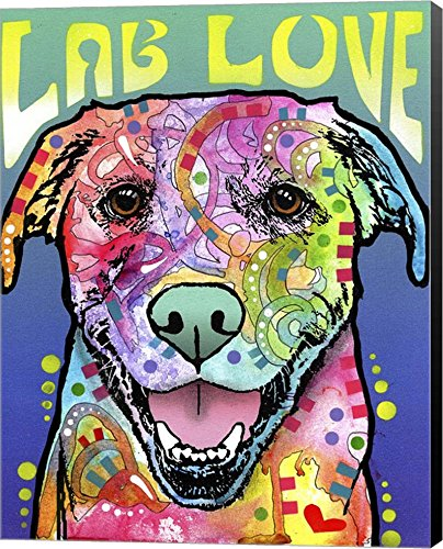 Lab Love by Dean Russo  dog Canvas Art Wall , Museum