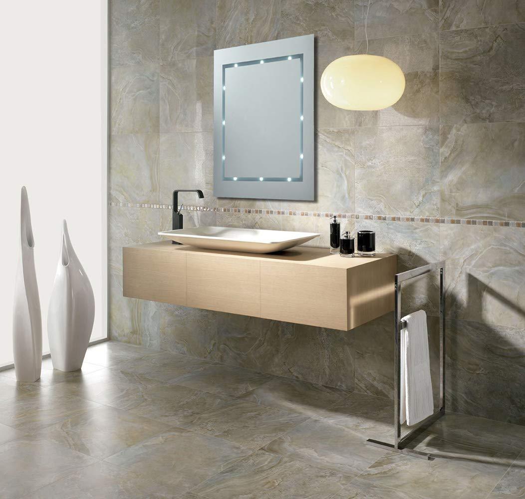 operato a batteria Specchio moderno e sottile con luci LED da parete per il bagno classificata IP44