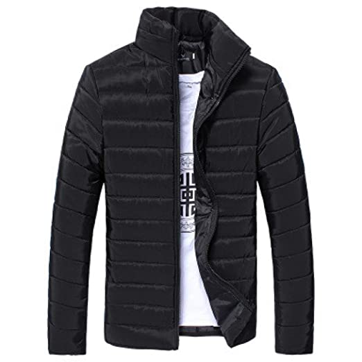 822dbf3e5 IEason Hooded Winter Thick Coat Men's Slim Casual Warm Jacket Hooded Winter  Thick Coat Parka Overcoat
