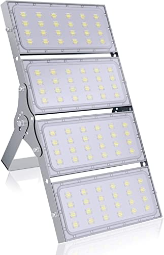 400W LED Floodlights, Daylight White Security Light, 40000LM IP66 Waterproof Stadium Light, LED Spot Light, Work Light for Tunnel, Garden,Yard, Parking Lot, Playground, Stadium 400