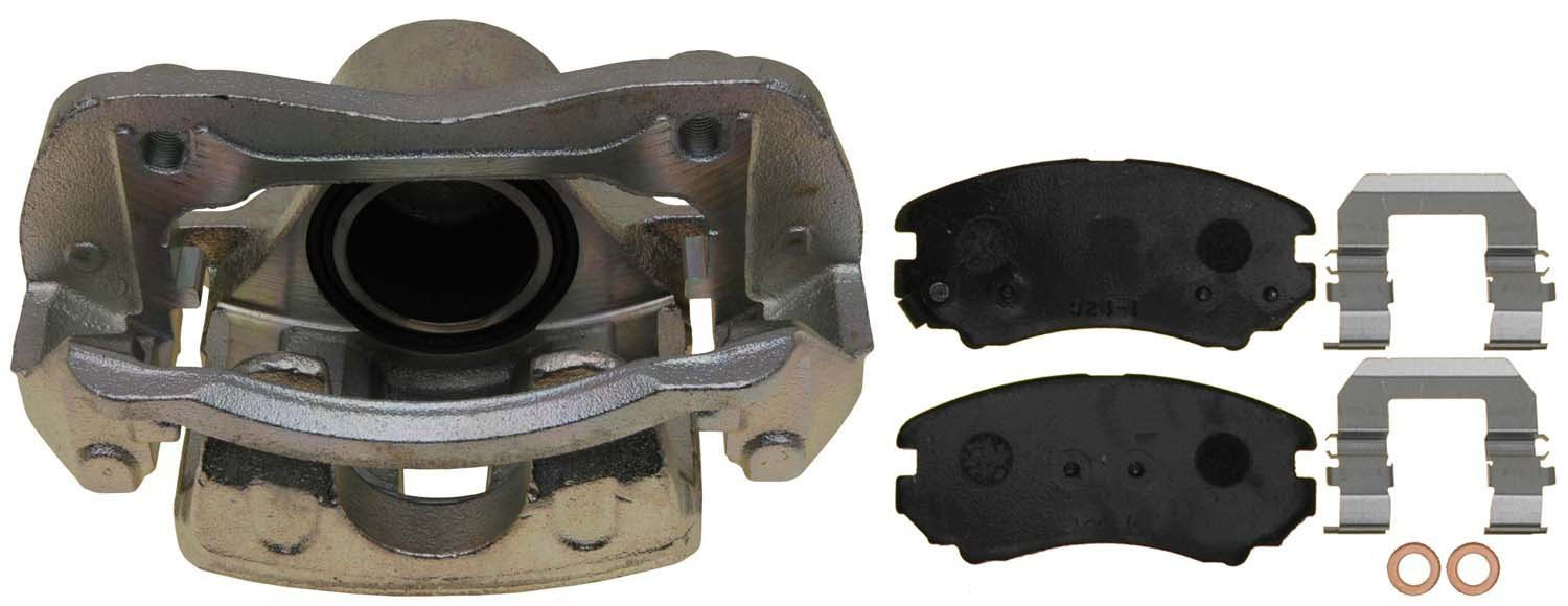 ACDelco 18FR12510 Professional Front Disc Brake Caliper Assembly without Pads Remanufactured Friction Ready Non-Coated
