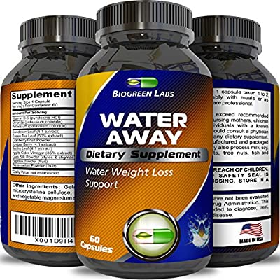 Premium Water Pills for Bloating Natural Weight Loss Supplement for Women and Men Dandelion Root Reduce Water Retention Antioxidant Green Tea Vitamin B6 Boost Metabolism and Energy by Biogreen Labs