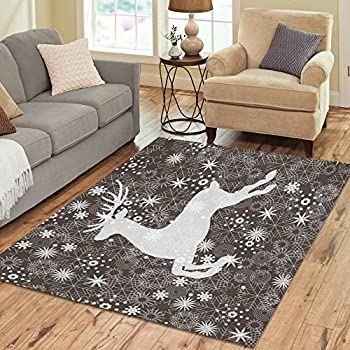 Amazon Com Non Skid Holiday Holly Floor Runner Area Rug