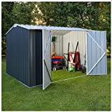 WZH High Performance Home & Garden Easy Assemble Large Storage shed (grey)