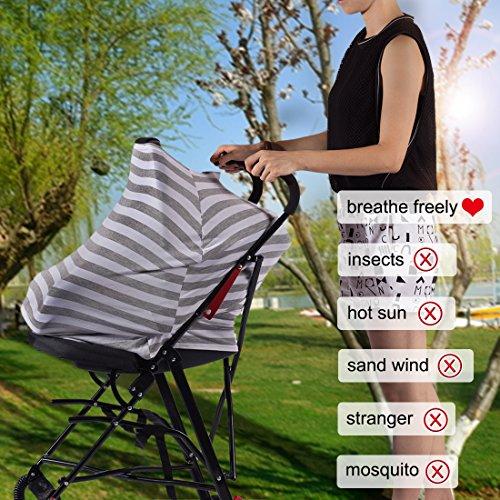 Kyapoo Baby Nursing Breastfeeding Cover Multi-Use Flexible Unisex Super Soft 100% Organic Cotton by Kyapoo (Image #2)