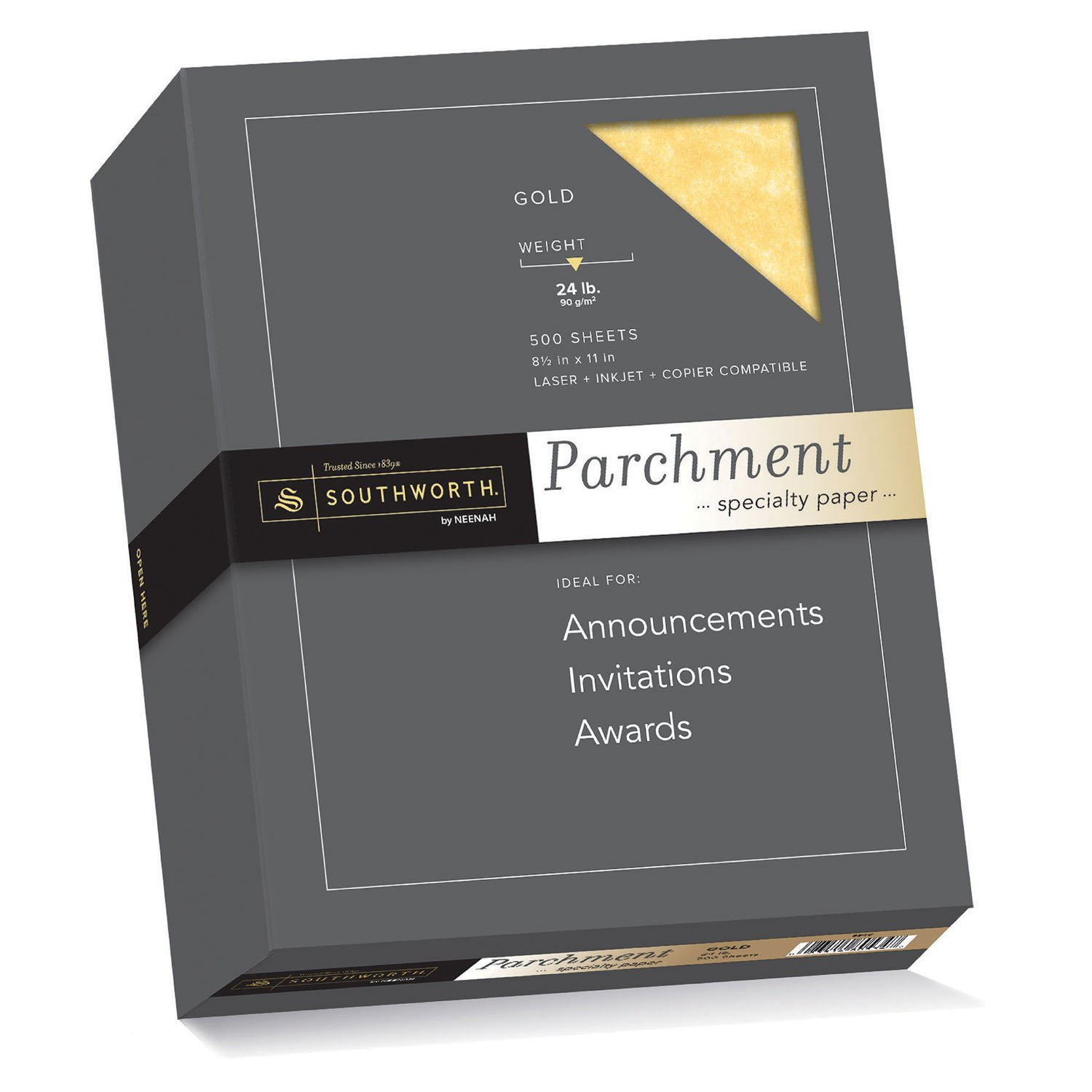 Southworth Parchment Specilaty Paper, 8.5 x 11 inches, 24 lb, Blue, 500 per Box (964C)