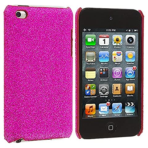 iPod Touch 4th Generation Case, TechSpec(TM) Hot Pink Glitter Case Cover for Apple iPod Touch 4th (Sparkly Girls Ipod 4 Cases)