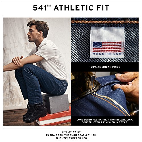 Levi's Men's Made in The USA 541 Athletic Fit Jean, Black, 33 34
