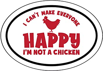 Barnyard Hen Bumper Sticker Perfect Chicken Mom Gift WickedGoodz Oval I Aspire to Be a Stay at Home Chicken Mom Decal