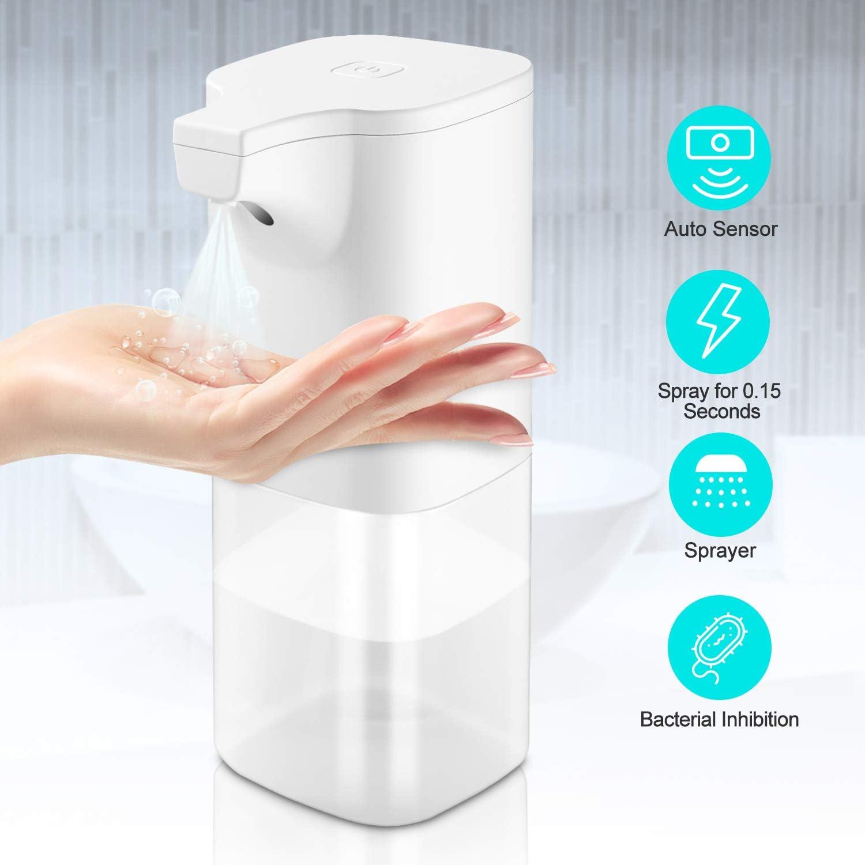 ELTD Rociador de Alcohol sin Contacto, dispensador Gel hidroalcoholico, rocío de inducción automático de Niebla de Alcohol (350 ml)
