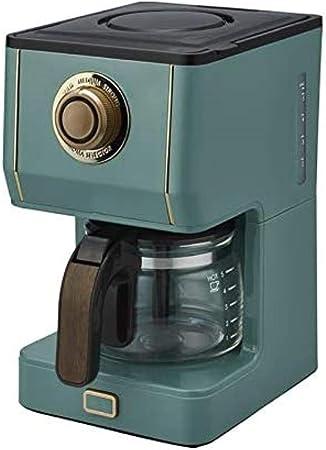 MISLD Cafetera automática 650 ml de café goteo tipo 600 W 3 diferentes grosores ligera tetera de café de doble uso para hogar y oficina verde oscuro: Amazon.es: Hogar