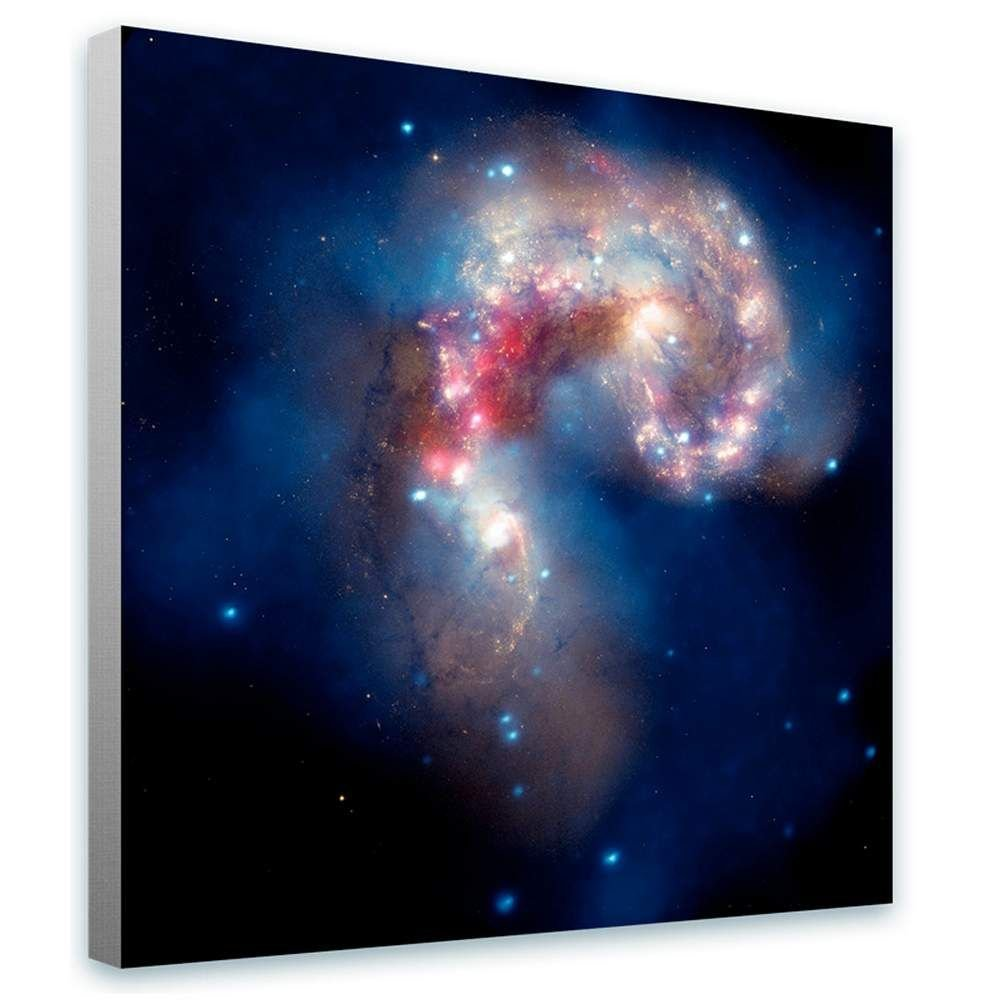 Alonline Art - Stars Hubble Telescope NASA Space Galaxy Framed Stretched Canvas (100% Cotton) Gallery Wrapped - Ready to Hang | 28''x28'' - 71x71cm | for Home Decor Framed Wall Art Framed Paintings