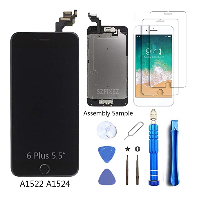 74fba3c8a SZFIXEZ for iPhone 6 Plus Screen Replacement with Home Button and Camera