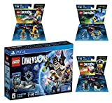 Lego Dimensions The Lego Movie Starter Pack + Emmet + Benny + Bad Cop Fun Packs for Playstation 4 PS4 Pro Console