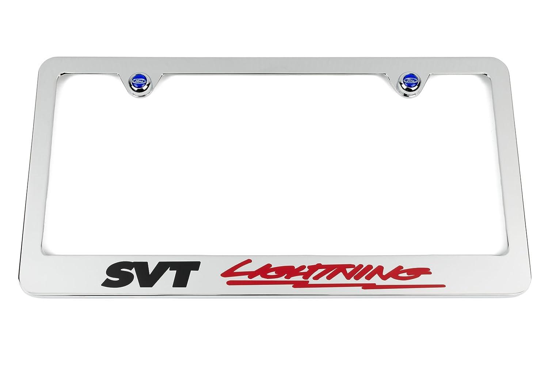 High-End Motorsports SVT LIGHTNING Chrome License Plate Frame - Ford SVT  F-150