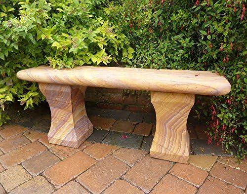 Grandes bancos de jardín - Mulsanne banco piedra arenisca easybake pulido: Amazon.es: Jardín