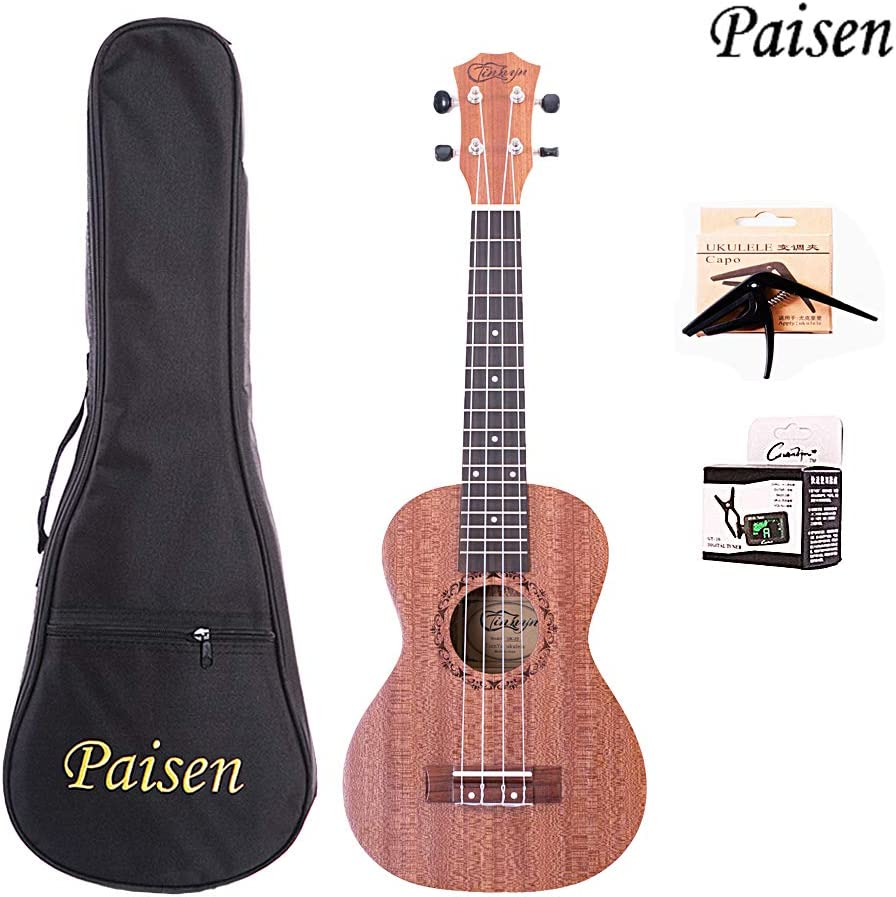 Paisen Ukelele Concierto Caulán Ukulele 23 pulgadas Instrumento ...